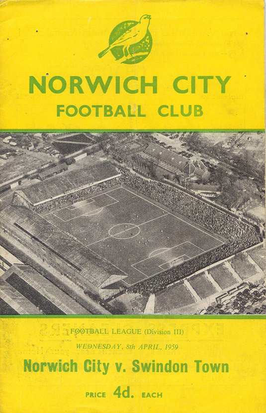 <b>Wednesday, April 8, 1959</b><br />vs. Norwich City (Away)