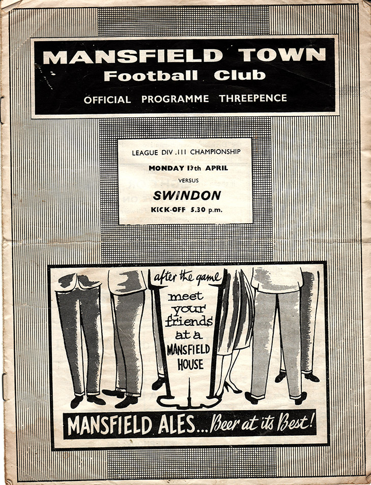 <b>Monday, April 13, 1959</b><br />vs. Mansfield Town (Away)