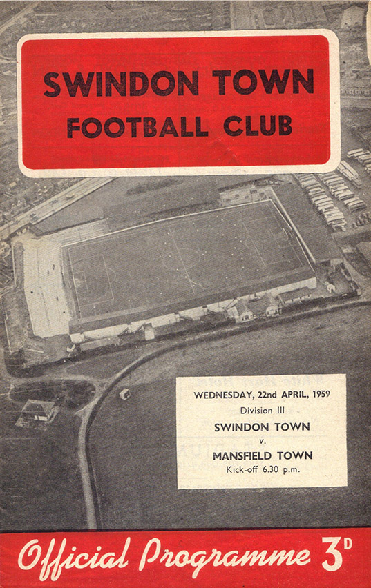 <b>Wednesday, April 22, 1959</b><br />vs. Mansfield Town (Home)