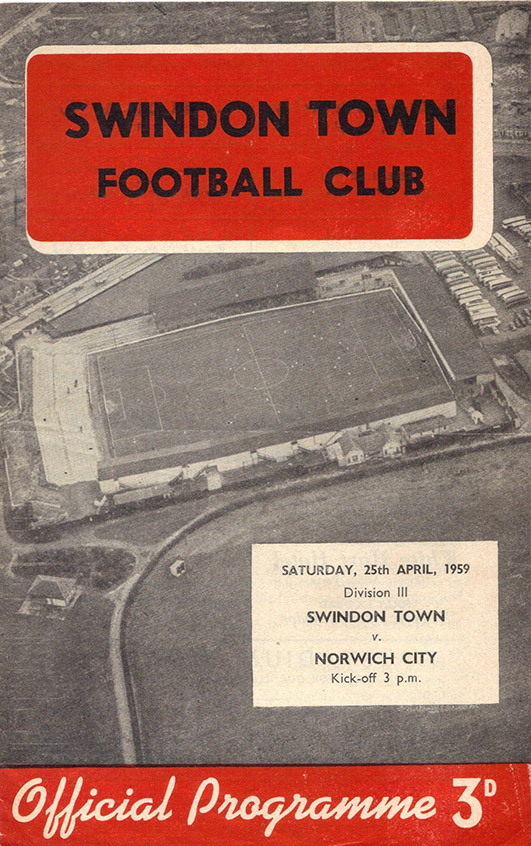 <b>Saturday, April 25, 1959</b><br />vs. Norwich City (Home)