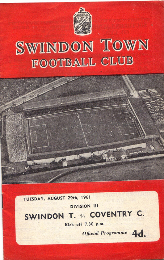 Tuesday, August 29, 1961 - vs. Coventry City (Home)