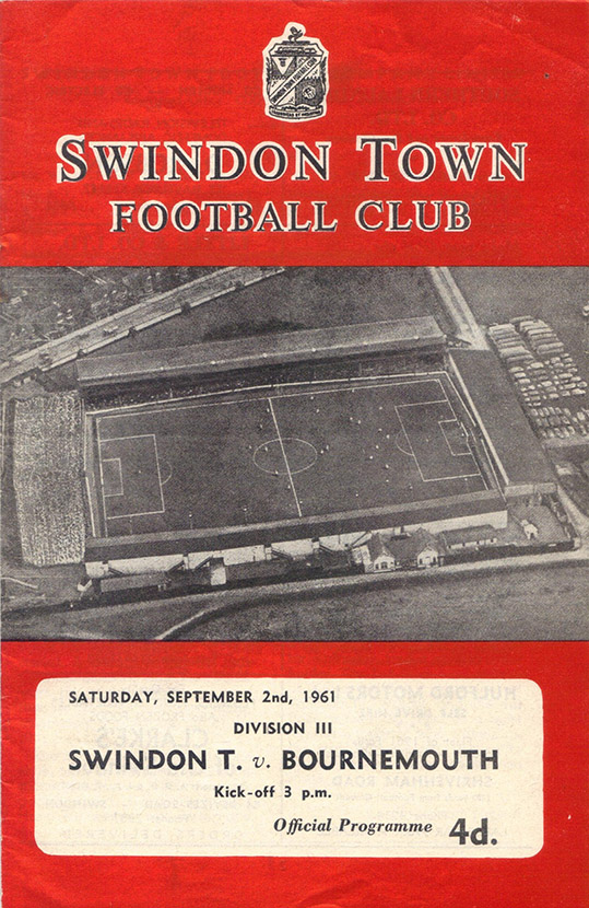 Saturday, September 2, 1961 - vs. Bournemouth and Boscombe Athletic (Home)