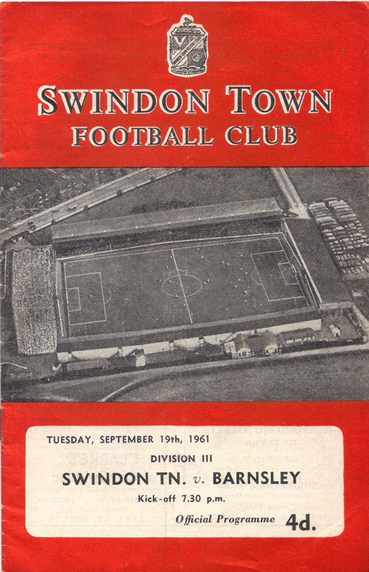 Tuesday, September 19, 1961 - vs. Barnsley (Home)