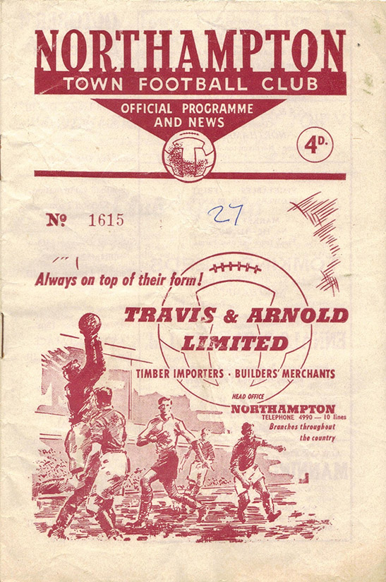 Saturday, September 23, 1961 - vs. Northampton Town (Away)