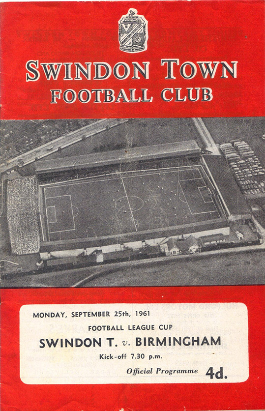 Monday, September 25, 1961 - vs. Birmingham City (Home)