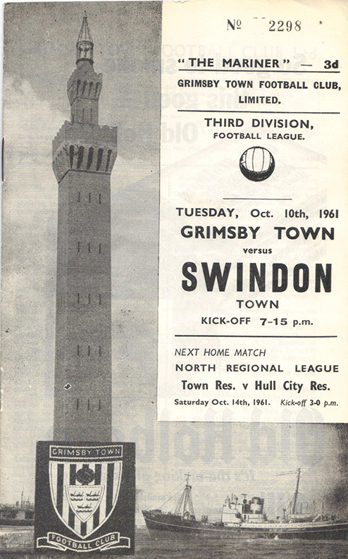 Tuesday, October 10, 1961 - vs. Grimsby Town (Away)