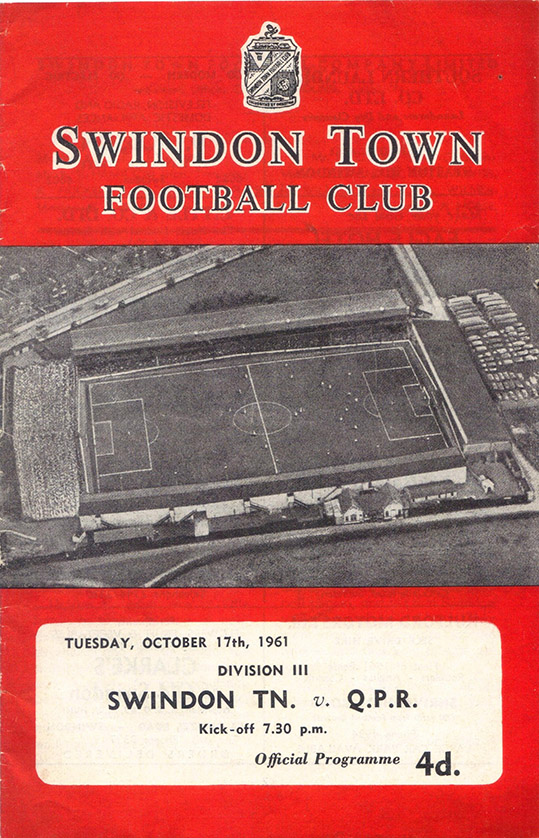 Tuesday, October 17, 1961 - vs. Queens Park Rangers (Home)