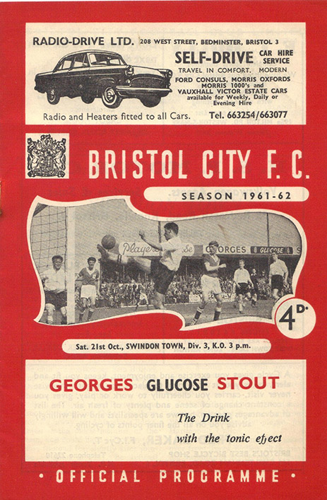 Saturday, October 21, 1961 - vs. Bristol City (Away)
