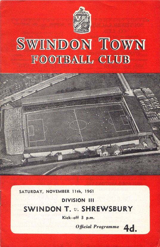 Saturday, November 11, 1961 - vs. Shrewsbury Town (Home)