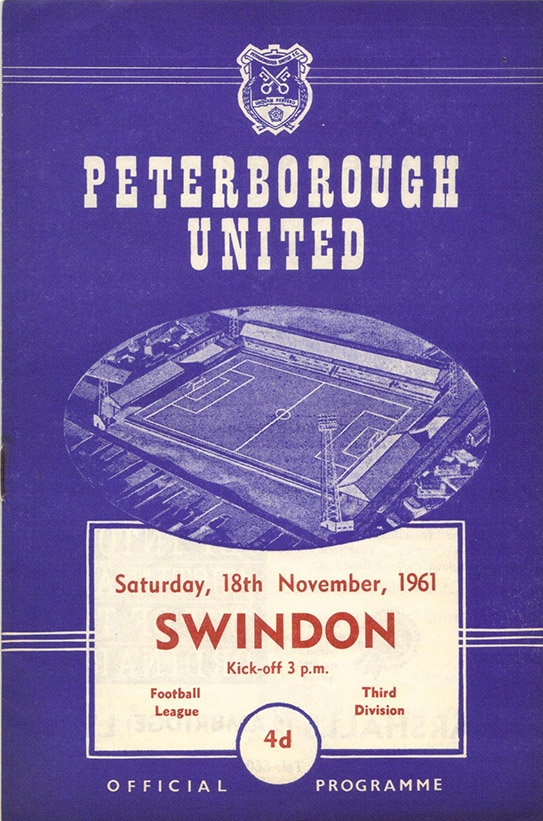 Saturday, November 18, 1961 - vs. Peterborough United (Away)