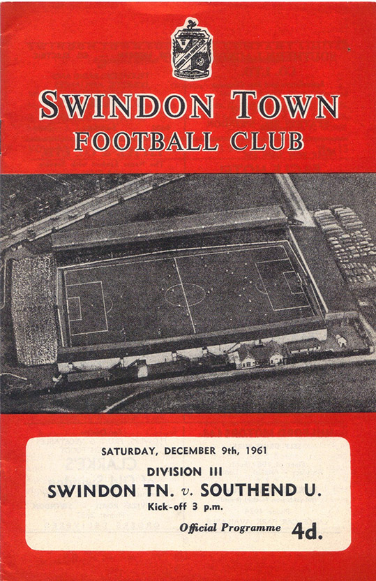 Saturday, December 9, 1961 - vs. Southend United (Home)