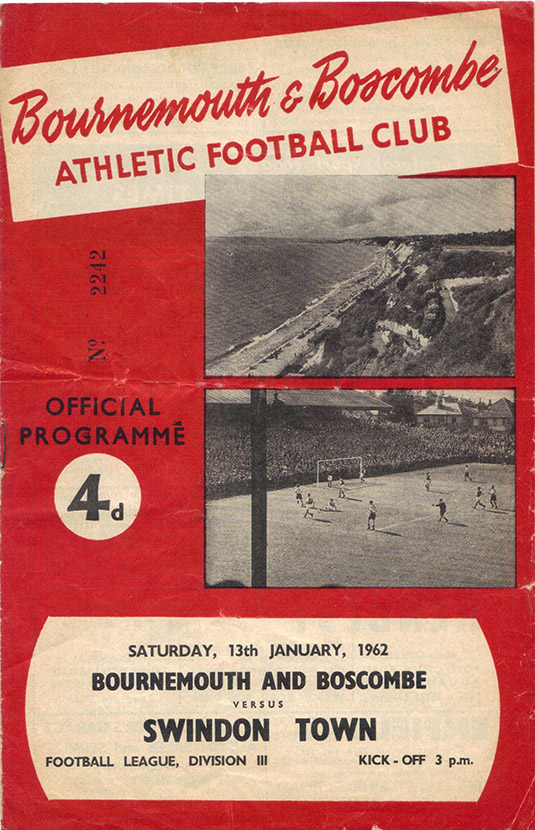 Saturday, January 13, 1962 - vs. Bournemouth and Boscombe Athletic (Away)