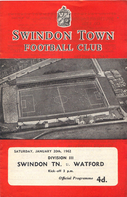 Saturday, January 20, 1962 - vs. Watford (Home)