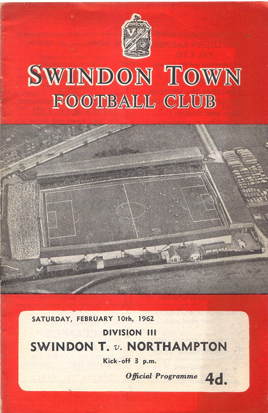 Saturday, February 10, 1962 - vs. Northampton Town (Home)