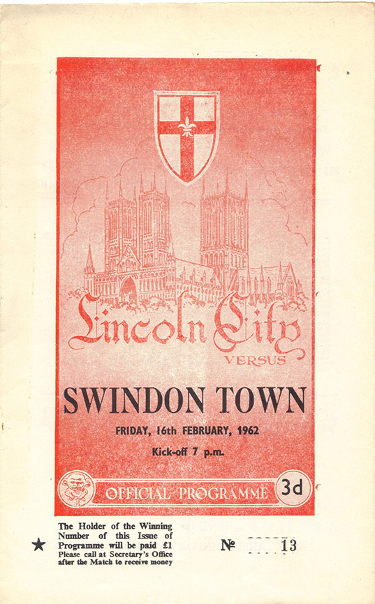 Friday, February 16, 1962 - vs. Lincoln City (Away)