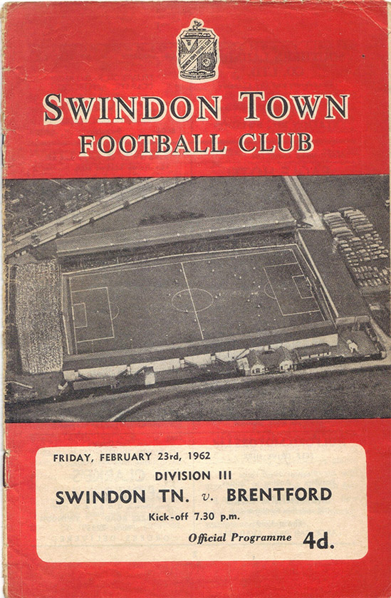 Friday, February 23, 1962 - vs. Brentford (Home)