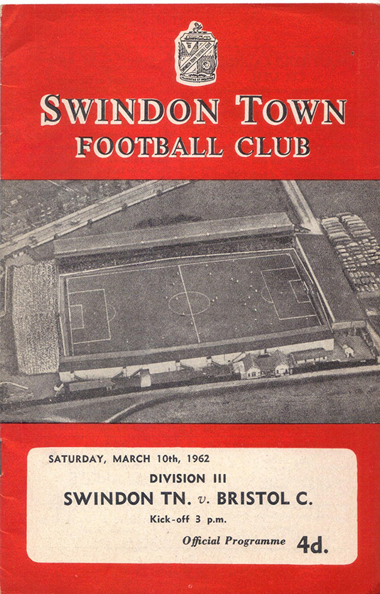 Saturday, March 10, 1962 - vs. Bristol City (Home)