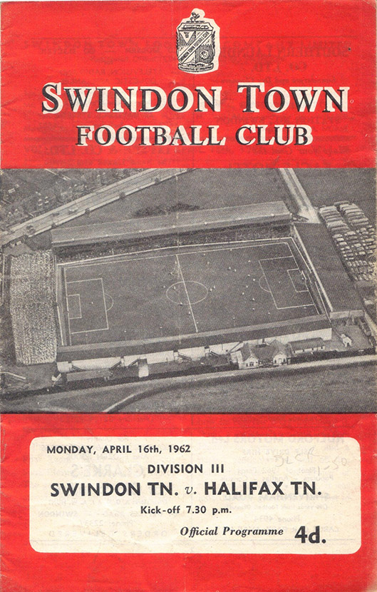 Monday, April 16, 1962 - vs. Halifax Town (Home)
