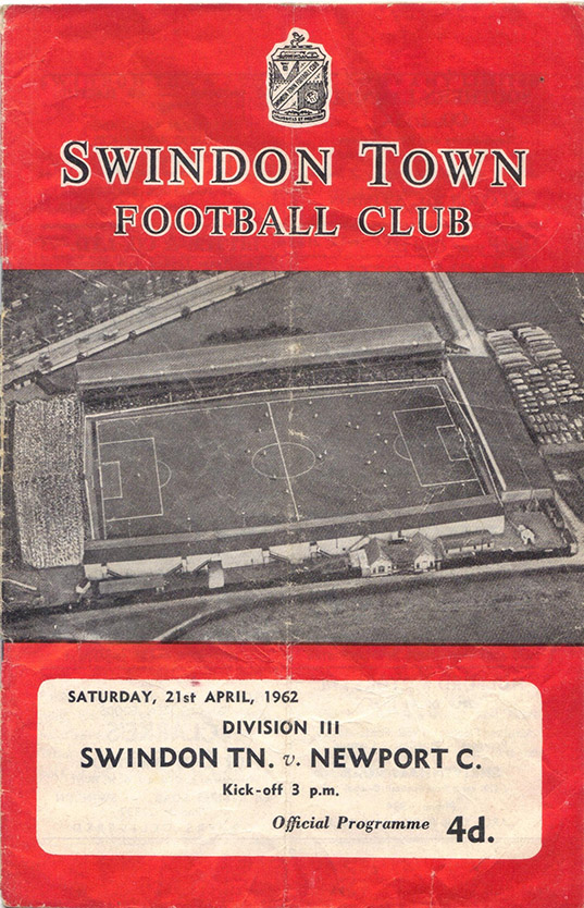 Saturday, April 21, 1962 - vs. Newport County (Home)