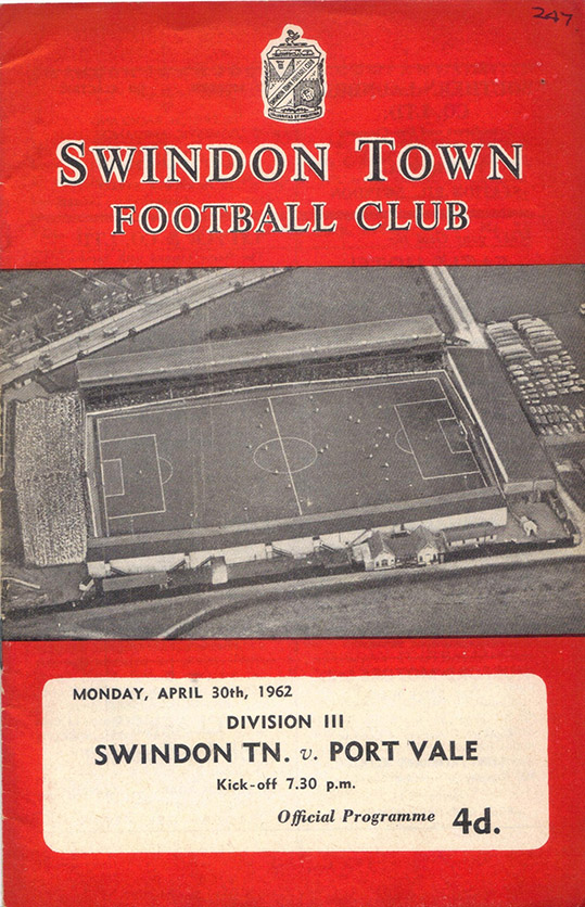 Monday, April 30, 1962 - vs. Port Vale (Home)