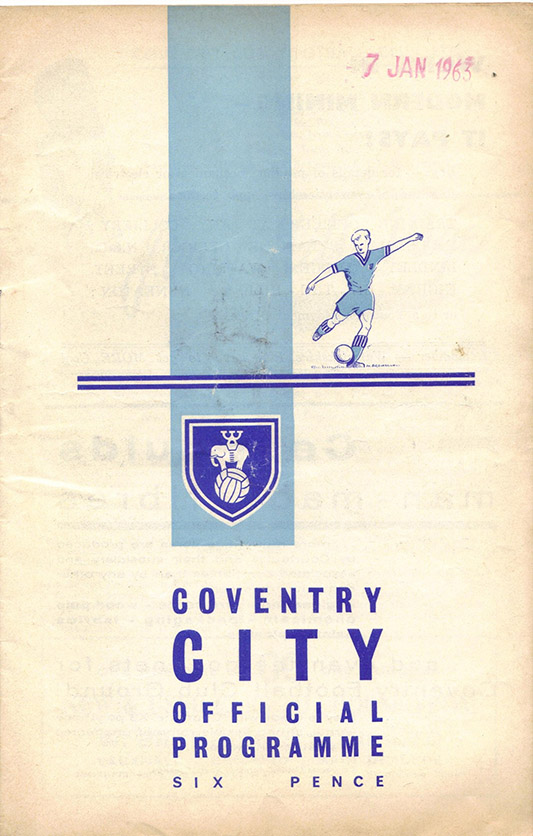 Tuesday, August 28, 1962 - vs. Coventry City (Away)