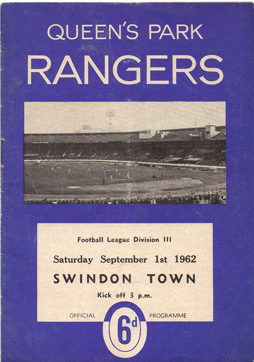Saturday, September 1, 1962 - vs. Queens Park Rangers (Away)