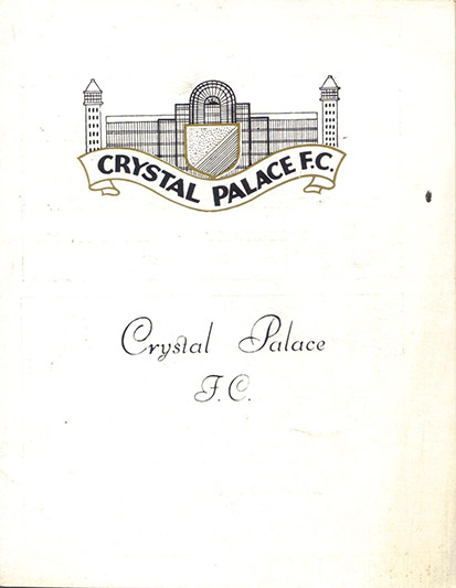 Saturday, September 15, 1962 - vs. Crystal Palace (Away)