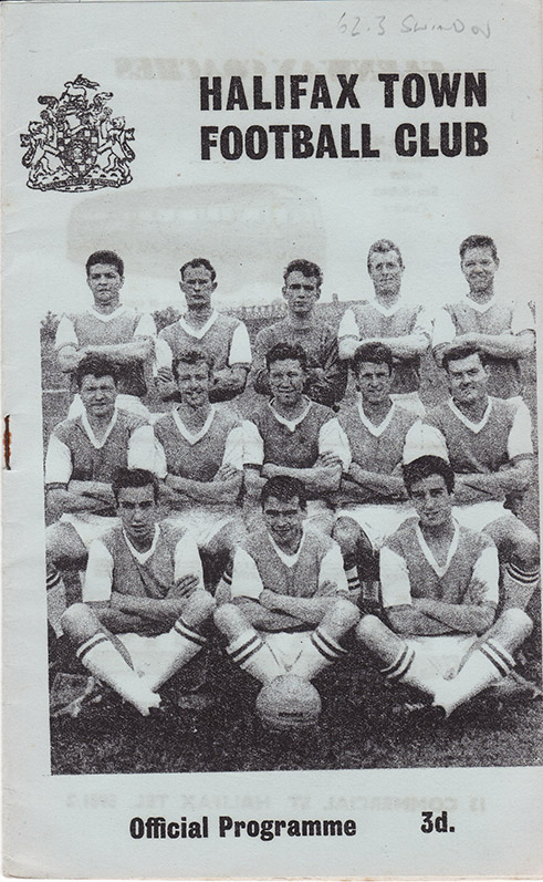 Saturday, September 29, 1962 - vs. Halifax Town (Away)