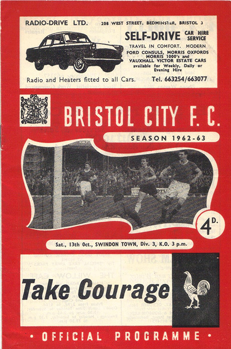 Saturday, October 13, 1962 - vs. Bristol City (Away)