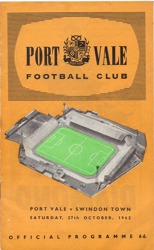 Saturday, October 27, 1962 - vs. Port Vale (Away)