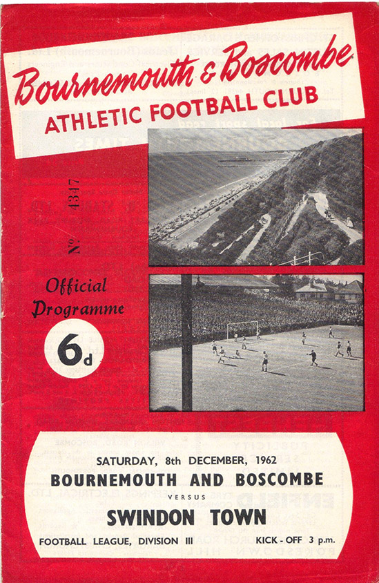 Saturday, December 8, 1962 - vs. Bournemouth and Boscombe Athletic (Away)