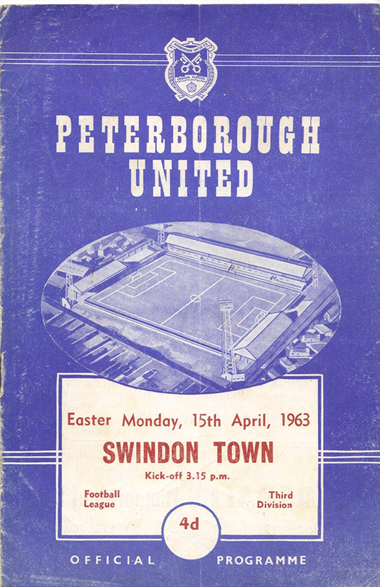 Monday, April 15, 1963 - vs. Peterborough United (Away)