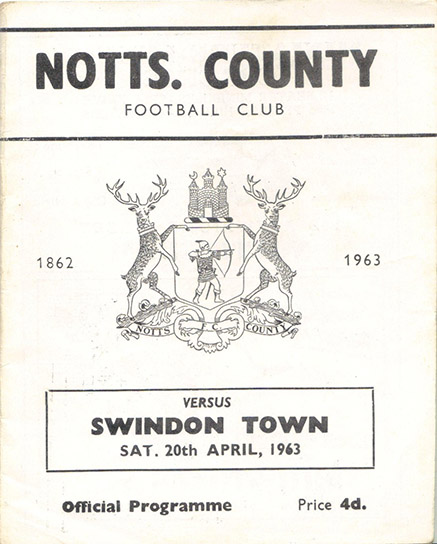 Saturday, April 20, 1963 - vs. Notts County (Away)