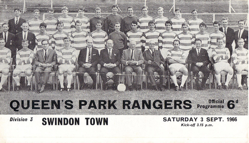 <b>Saturday, September 3, 1966</b><br />vs. Queens Park Rangers (Away)
