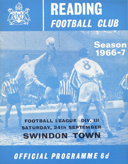 <b>Saturday, September 24, 1966</b><br />vs. Reading (Away)