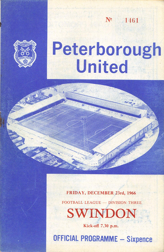 <b>Friday, December 23, 1966</b><br />vs. Peterborough United (Away)