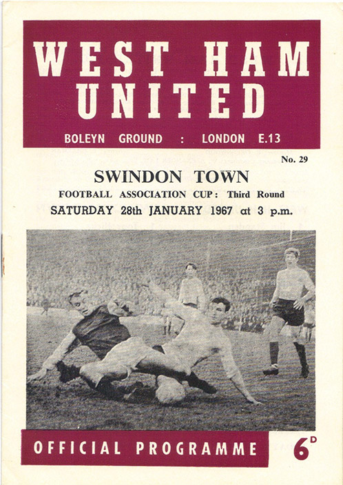 <b>Saturday, January 28, 1967</b><br />vs. West Ham United (Away)