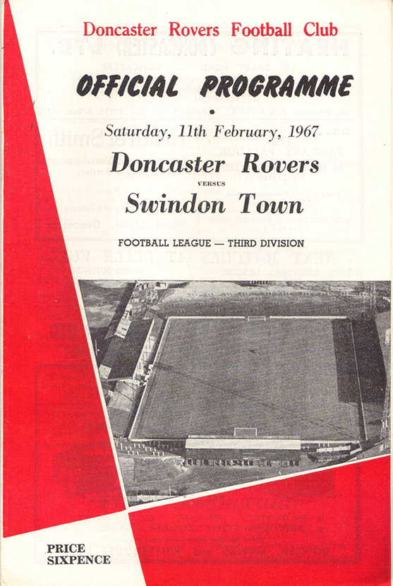 <b>Saturday, February 11, 1967</b><br />vs. Doncaster Rovers (Away)