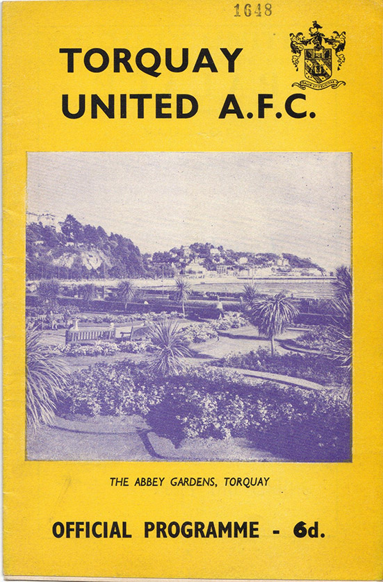 <b>Monday, March 27, 1967</b><br />vs. Torquay United (Away)