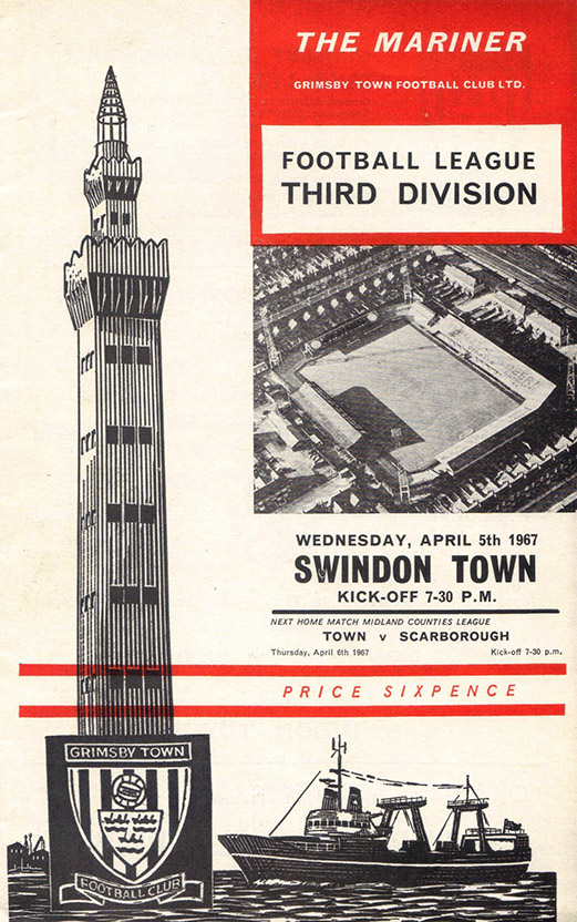 <b>Wednesday, April 5, 1967</b><br />vs. Grimsby Town (Away)