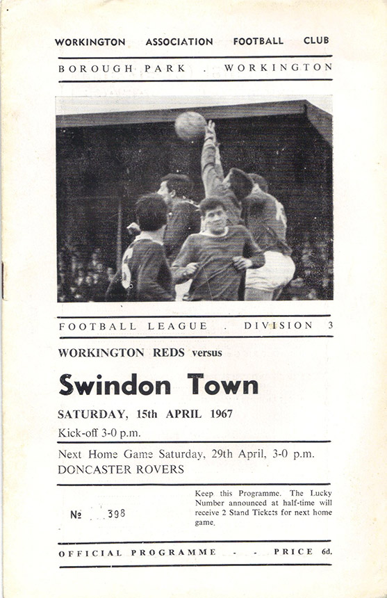 <b>Saturday, April 15, 1967</b><br />vs. Workington (Away)