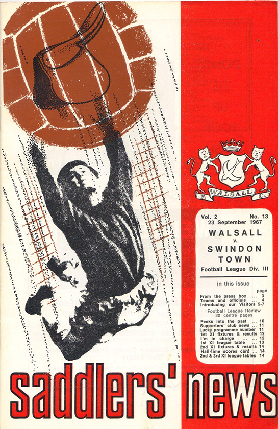 Saturday, September 23, 1967 - vs. Walsall (Away)