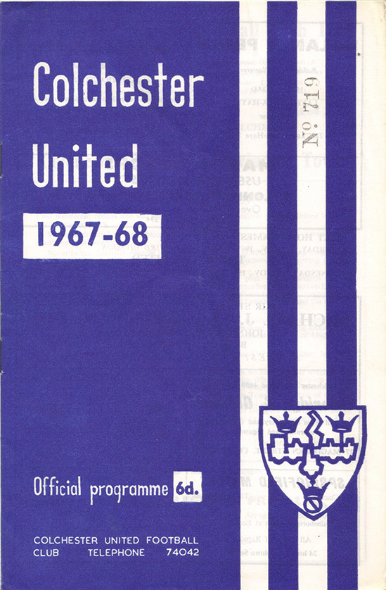 Saturday, October 21, 1967 - vs. Colchester United (Away)