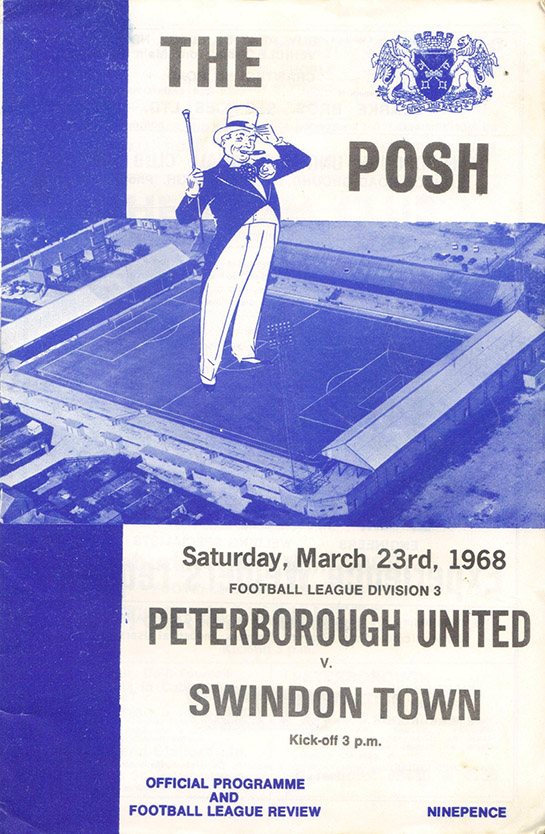 Saturday, March 23, 1968 - vs. Peterborough United (Away)