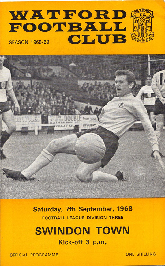 <b>Saturday, September 7, 1968</b><br />vs. Watford (Away)