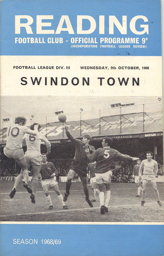 <b>Wednesday, October 9, 1968</b><br />vs. Reading (Away)