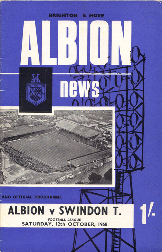 <b>Saturday, October 12, 1968</b><br />vs. Brighton and Hove Albion (Away)