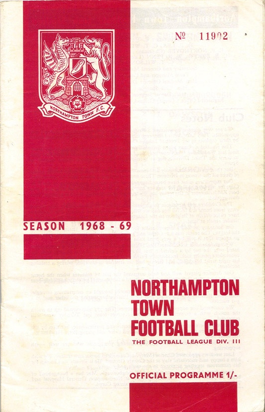 <b>Tuesday, November 26, 1968</b><br />vs. Northampton Town (Away)