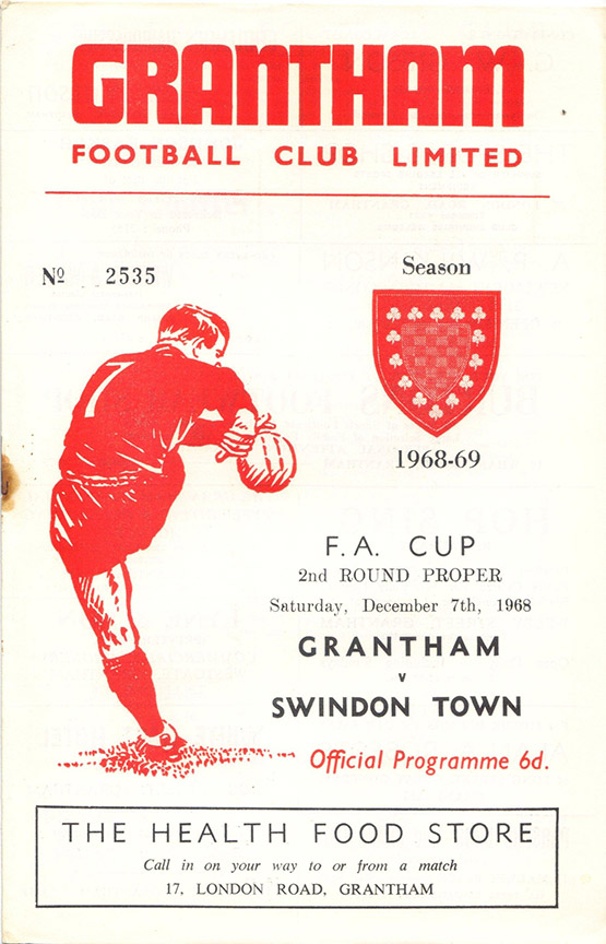<b>Saturday, December 7, 1968</b><br />vs. Grantham (Away)