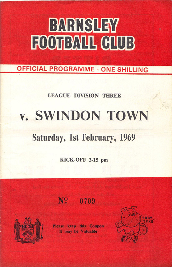 <b>Saturday, February 1, 1969</b><br />vs. Barnsley (Away)